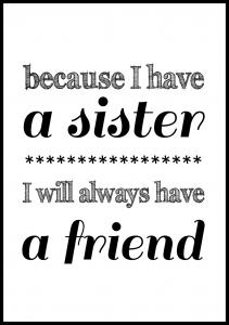 Because i have a sister - Svart