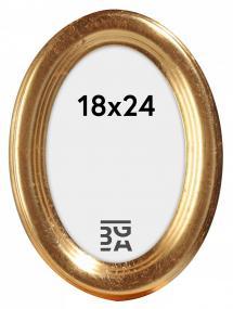 Molly Oval Guld 18x24 cm