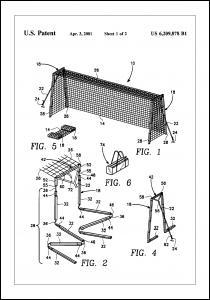 Patent Print - Soccer Goal - White