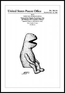 Patentritning - Mupparna - Kermit I