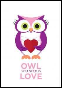 Owl You need is love - Rosa-Lila
