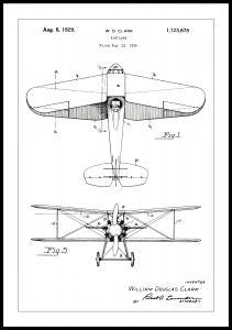 Patentritning - Flygplan - Vit