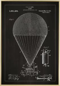 Patentritning - Luftskepp - Svart