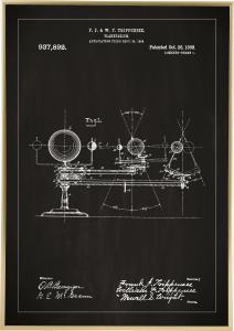 Patentritning - Planetarium - Svart