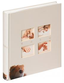 Classic Bear Barnalbum Creme - 28x30,5 cm (60 Vita sidor / 30 blad)