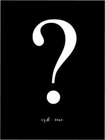 Ask me - Svart med vitt tryck