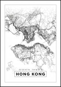 Map - Hong Kong - White