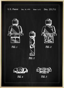 Patentritning - Lego I - Svart