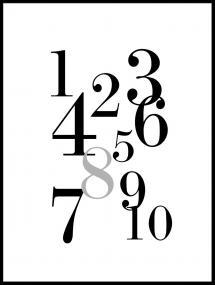 1-10 - Svart/grå