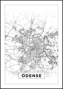 Map - Odense - White