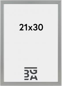 Slim Matt Antirefleksglas Silver 21x30 cm