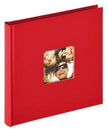 Fun Album Röd - 18x18 cm (30 Svarta sidor / 15 blad)
