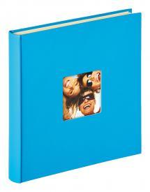 Fun Självhäftande Havsblå - 33x34 cm (50 Vita sidor / 25 blad)