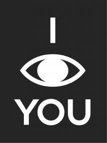 I see you - Svart med vitt tryck