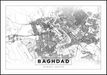 Map - Baghdad - White