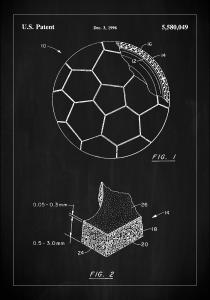 Patent Print - Football - Black
