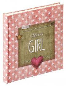 Little Babyalbum Girl Rosa - 28x30,5 cm (50 Vita sidor / 25 blad)