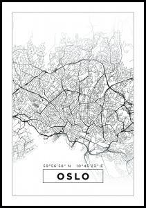 Karta - Oslo - Vit