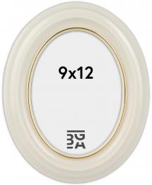 Eiri Mozart Oval Vit 9x12 cm