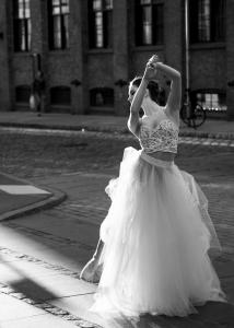 Ballet woman on street