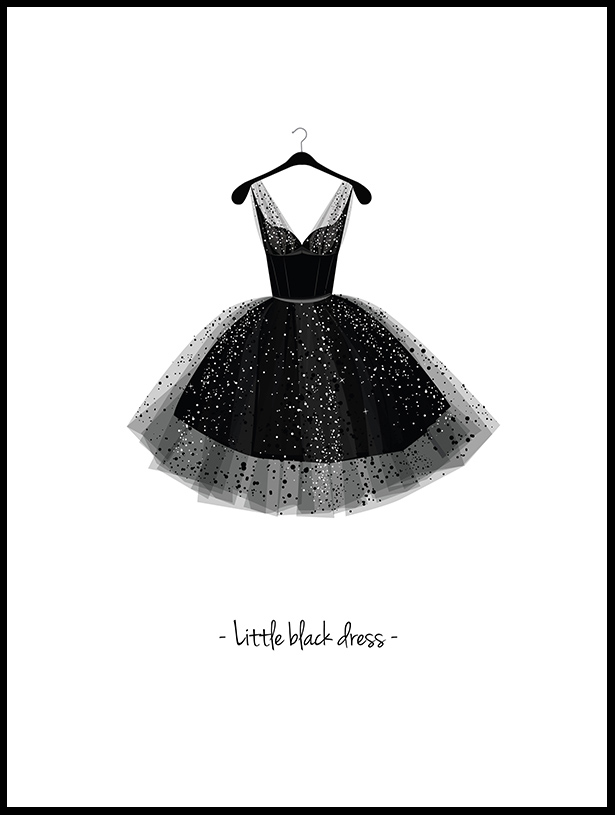 Little Black Dress - 30x40 cm
