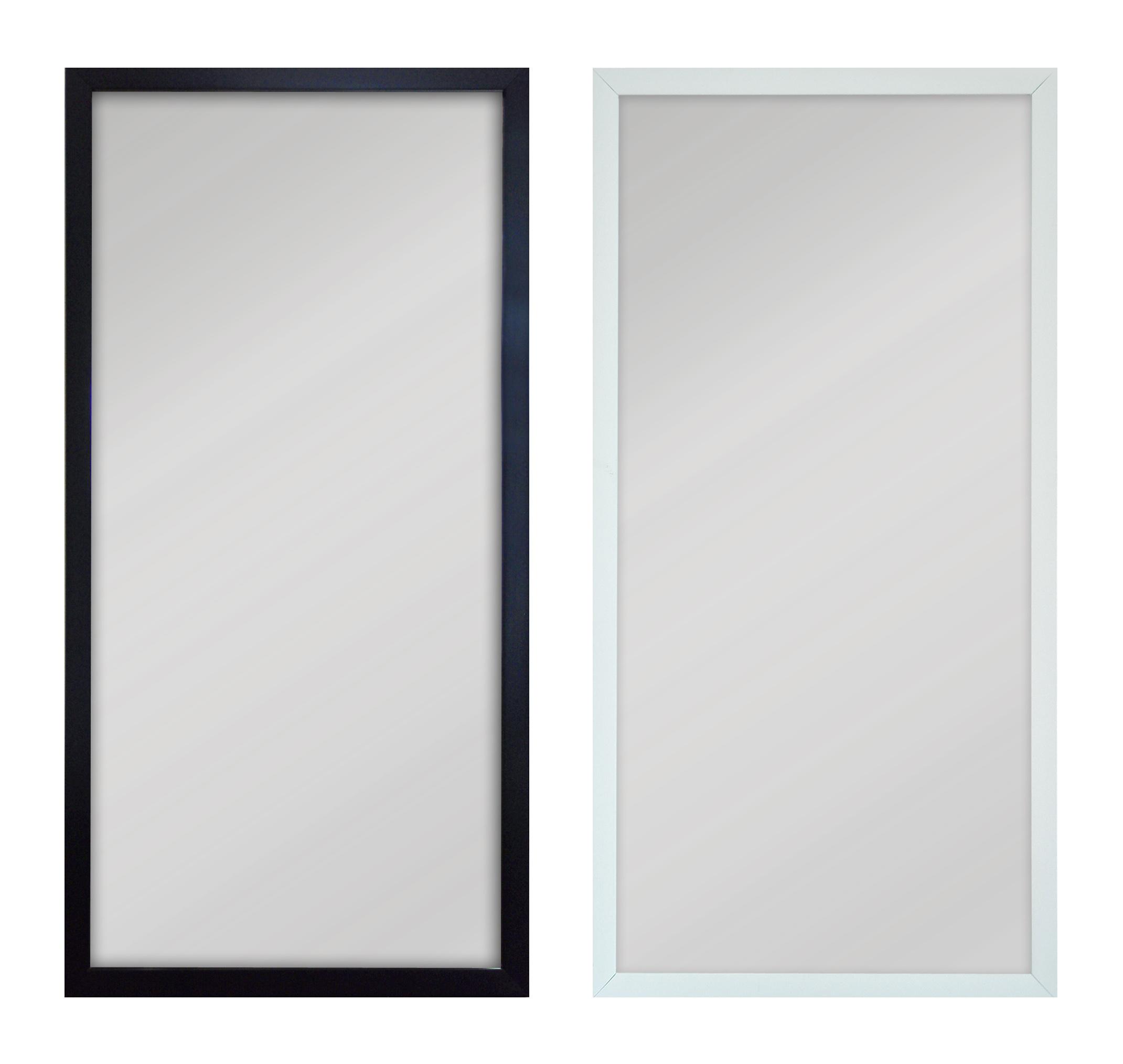 stor spegel med vit ram