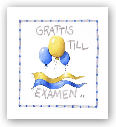 grattis till examen Gratulationskort Grattis till examen   Motivnummer 0104   BGA  grattis till examen