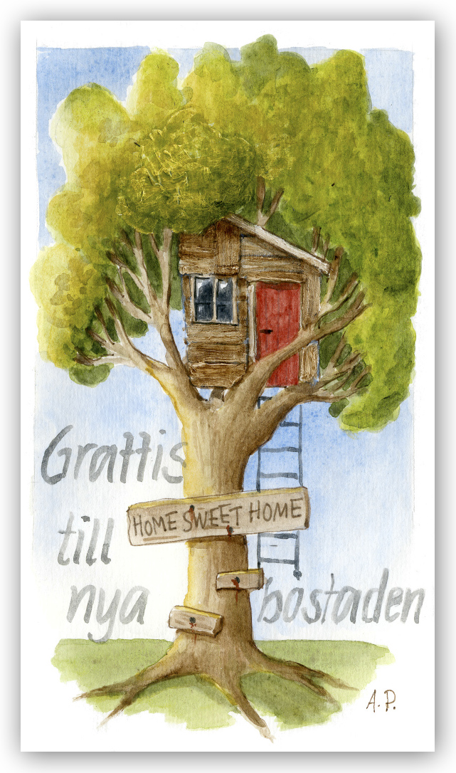 grattis till nya lägenheten Gratulationskort Grattis till nya bostaden   Motivnummer 089   BGA  grattis till nya lägenheten