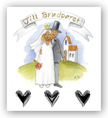 grattis till brudparet kort Gratulationskort Till brudparet   Motivnummer 174   BGA Fotobutik grattis till brudparet kort