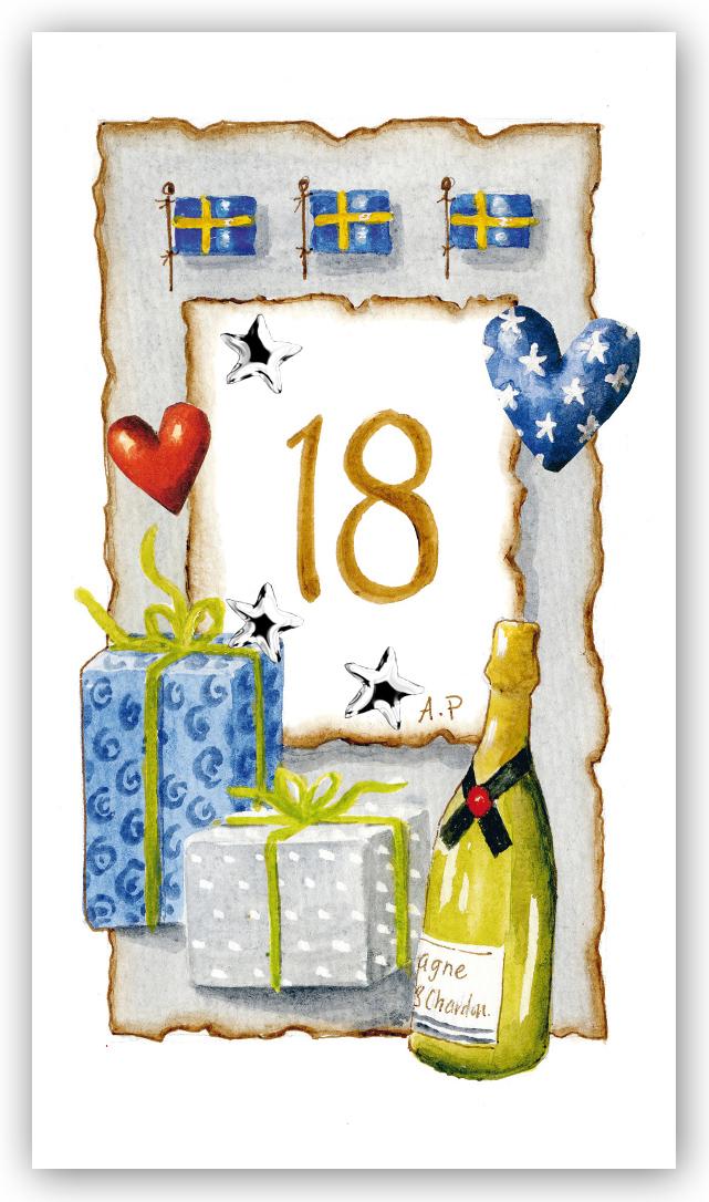 grattis på 18 årsdagen text Gratulationskort Årskort 18 år   Motivnummer 18   BGA Fotobutik grattis på 18 årsdagen text