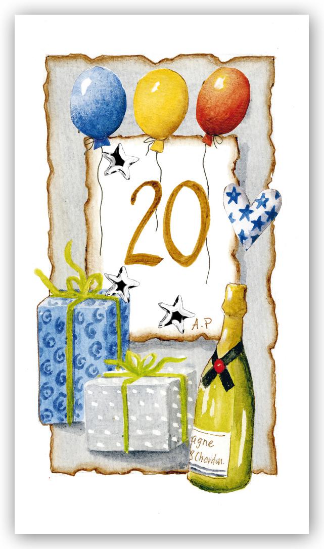 grattiskort 20 år Gratulationskort Årskort 20 år   Motivnummer 21   BGA Fotobutik grattiskort 20 år
