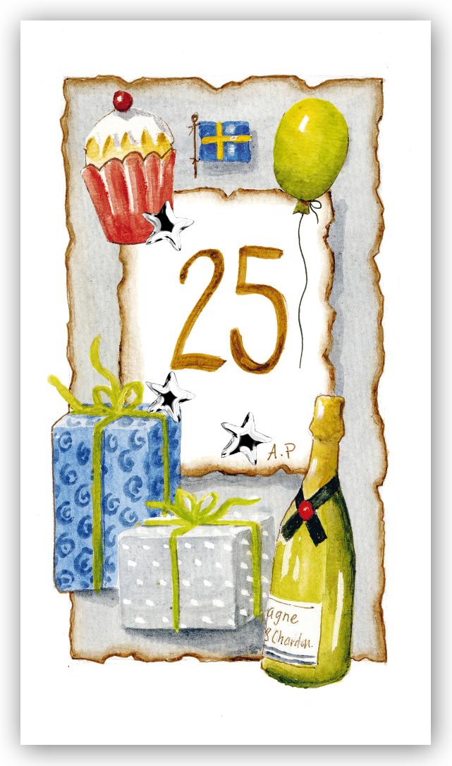 bröllop 25 år Gratulationskort Årskort 25 år   Motivnummer 25   BGA Fotobutik bröllop 25 år