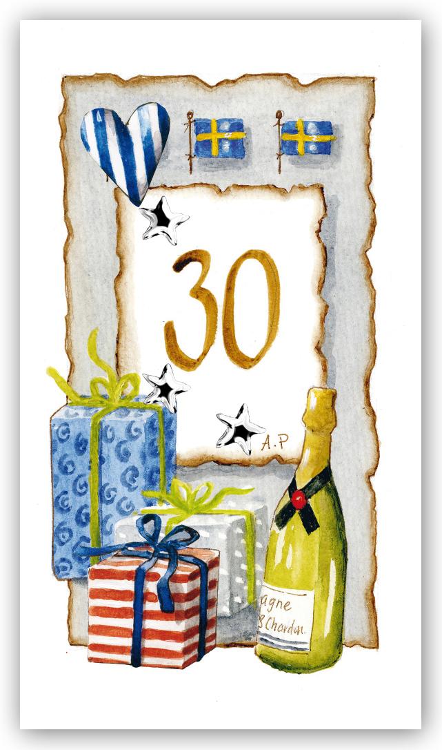 grattiskort 30 år Gratulationskort Årskort 30 år   Motivnummer 30   BGA Fotobutik grattiskort 30 år