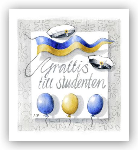 gratulationskort examen Gratulationskort Grattis till examen   Motivnummer 3059   BGA  gratulationskort examen