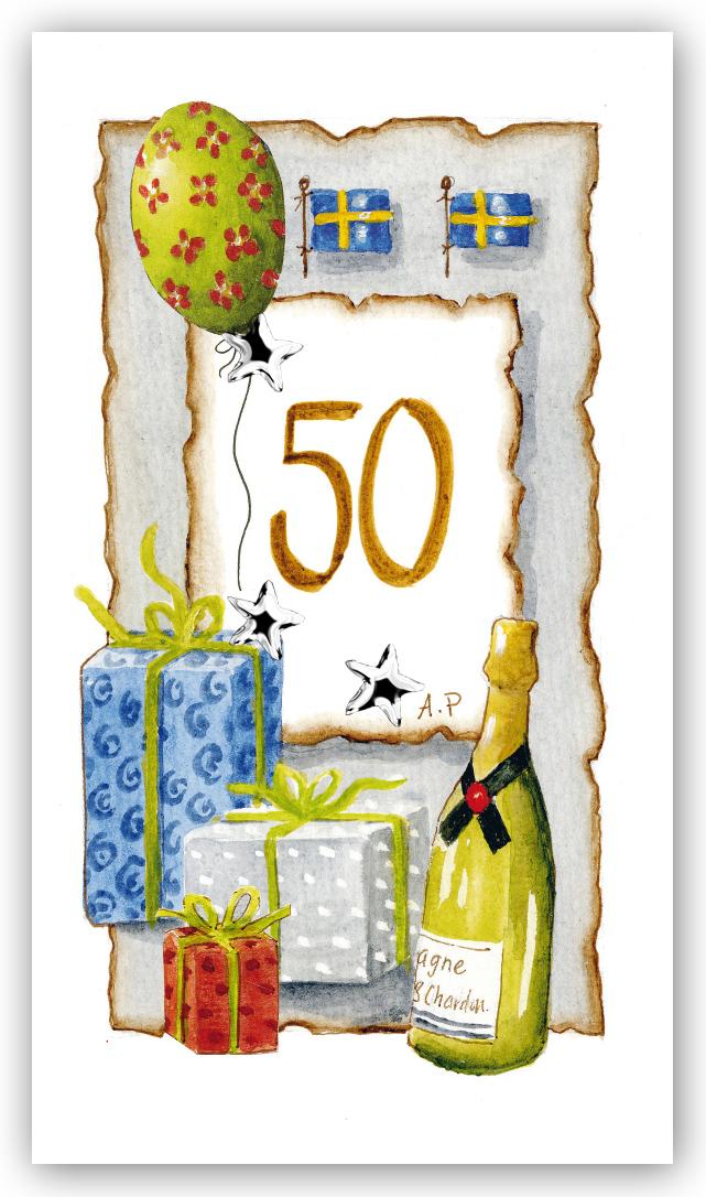 bilder 50 år Gratulationskort Årskort 50 år   Motivnummer 50   BGA Fotobutik bilder 50 år