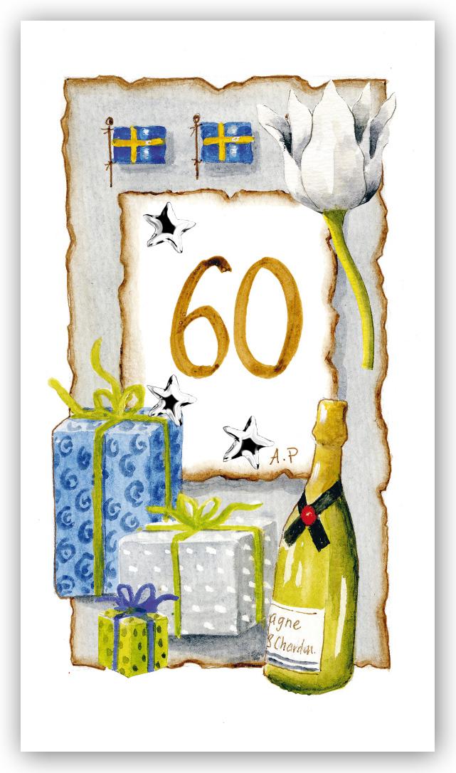 60 års kort Gratulationskort Årskort 60 år   Motivnummer 60   BGA Fotobutik 60 års kort