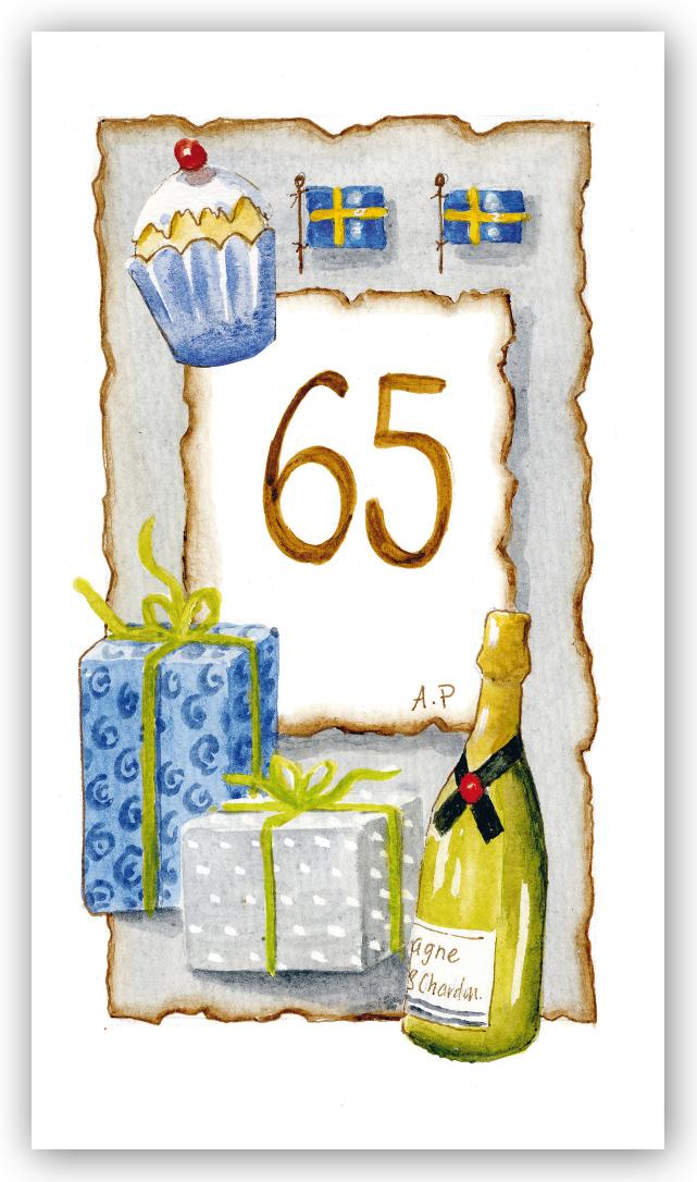 födelsedagskort 65 år Gratulationskort Årskort 65 år   Motivnummer 65   BGA Fotobutik födelsedagskort 65 år