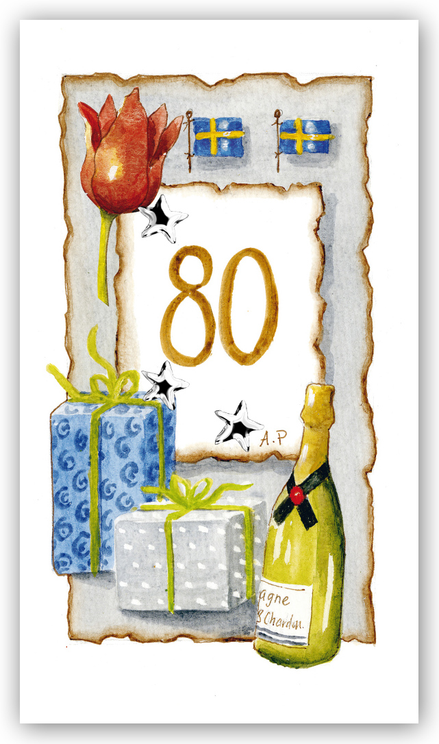 födelsedagskort 80 år Gratulationskort Årskort 80 år   Motivnummer 80   BGA Fotobutik födelsedagskort 80 år